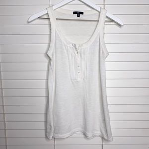 GAP Tank Top Ruffle and Buttons